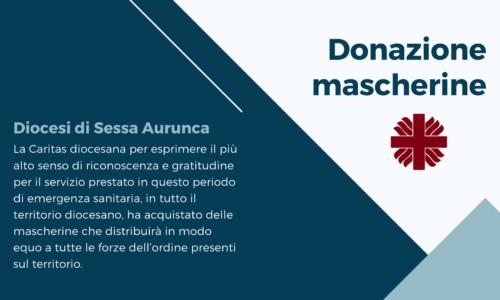 Emergenza COVID – 19, donazione mascherine alle forze dell'ordine da parte della Caritas Diocesana