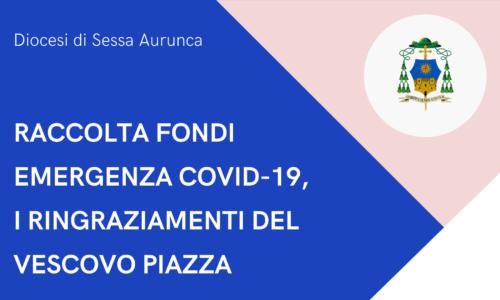 Raccolta fondi emergenza Covid-19, i ringraziamenti del Vescovo Piazza. Elenco donazioni e bilancio