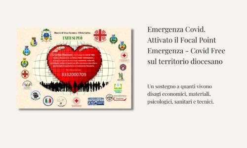 Emergenza Covid. Attivato il Focal Point Emergenza – Covid Free sul territorio diocesano